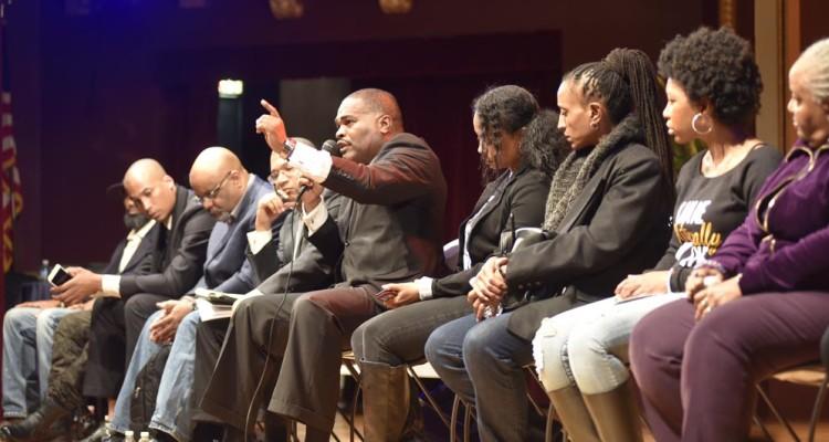 L to R: Brad Lewis, David Anderson, Dr. Boyce Watkins, Michael Imhotep, John Crawford Jr., Sherri Hamilton, Earth Jallow, Manicka Thomas, Carol Hector-Harris